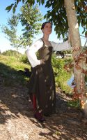 Green Brown Kirtle1 by CenturiesSewing