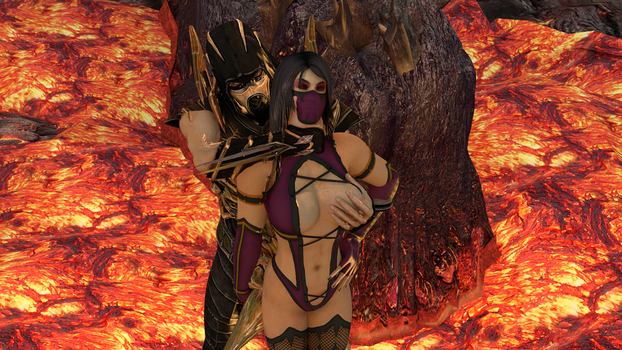 Scorpion x Mileena (Like it rough?) by lonelygoer