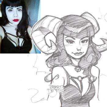 Lillith Moon666 Sketch by Banzchan