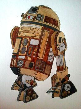 R2D2 steampunk style by tenshiroi