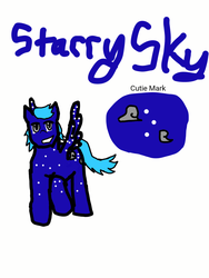 Starry Sky-- Pony OC by TriforceOfWill