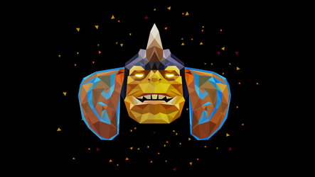 Alchemist Dota 2 Low Poly Art by giftmones