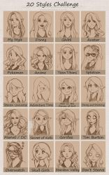 20 Styles Challenge by ClearWillow