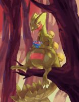 Day 08 - Sceptile (eating an Oran Berry :3)