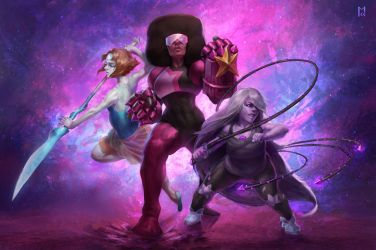 We, are the Crystal Gems! by Castaguer93