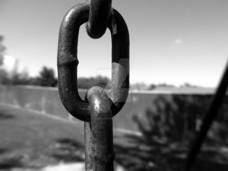 Chain link and fence by JacobMcClure