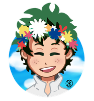 Flower Deku by S-Siyala