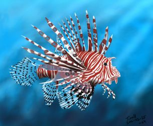 Lionfish Painting Challenge by timohuovinen