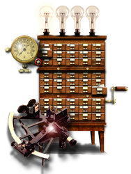 Steampunk GPS or Routefinder Icon MkII by yereverluvinuncleber
