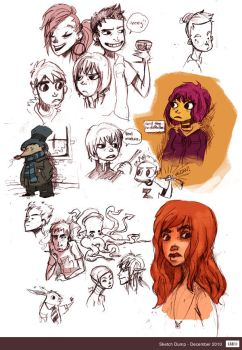Sketch Dump - December by Cabycab
