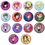 Kawaii Chibi Lolita Fashion Pinback Button Badge by Cosplayfangear