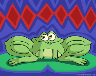 Froggy Doesn't Skip Leg Day by Calicard