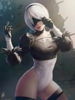 2B (No skirt) by TheMaestroNoob