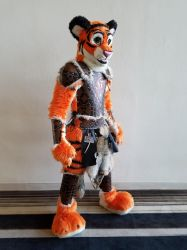 Tiger Barbarian Armor by AThousandRasps
