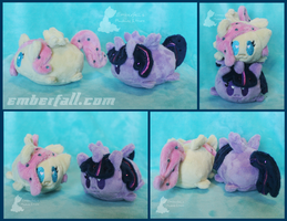 4in Fluttershy and Twilight stacking plush by EmberfallPlush