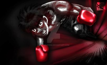 Digital Painting : Ippo !! by CapsuleCom