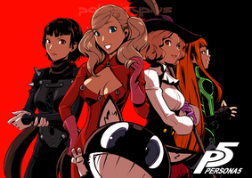 The Ladies of Persona 5 by polarityplus (Colored) by LazyAxolotl