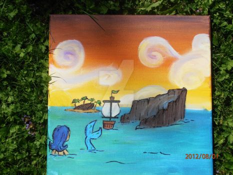 ToMI: Spinner Cay - Canvas + Acrylic paint by LizbethLizard