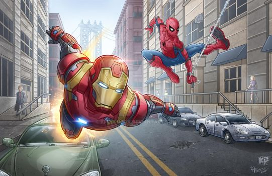 Iron Man And Spidey by kpetchock