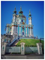 St. Andrew church Kiev  by bulgphoto