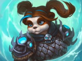 Commission: Pandaren Shaman2 by lowly-owly