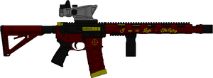 Deadshot's AR-15 (Suicide Squad) by Hybrid55555