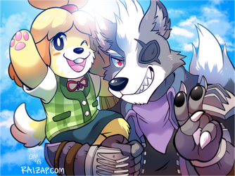 Isabelle and Wolf by raizy