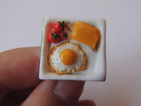 Breakfast ring by JoannaInMiniLand