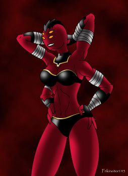 Ben 10 Omniverse: Princess Looma Red Wind by frikineitor143