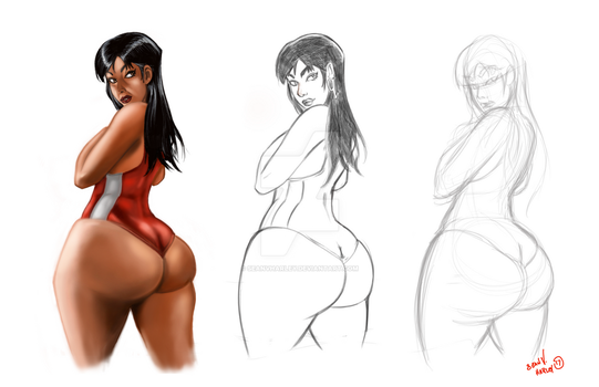 1st Lady Quick WIP by SeanVHarley