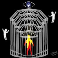 Soul trapped inside infinite cages by unnibabu