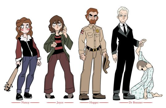 Stranger Things Characters by TheDracoJayProduct