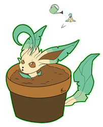 [Pokecember #9] Leafeon by LackeDragon