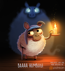 Daily Paint 1493. Baaa Humbug by Cryptid-Creations