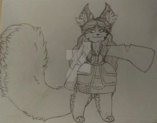 The big fluffy cat known as 'Neoma' by Feral101