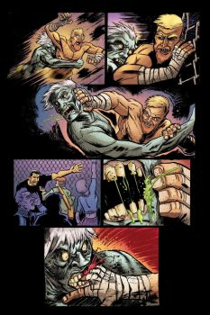 Zombie Cage Fighter color sample page by BrattyBen