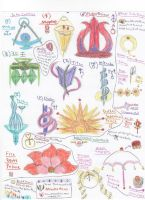 Sailor Moon Castles and Manga Items Doodles by Hawkheart29