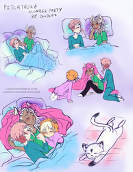 Pitchthorne | Slumber Party RP doodles by LumiPop