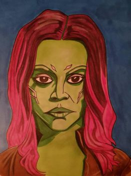 gamora guardians of the galaxy. day 5 of 7 by yorkshirepudding1990