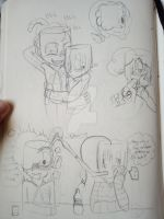 Wick and Rooty doodles by Natalie-Sophie