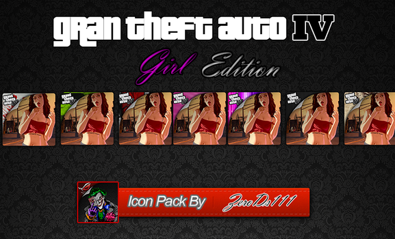 GTA IV Sexy Girl Edition Icon Pack by ZeroDs111