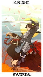 tarot comm - knight of swords by corycatte