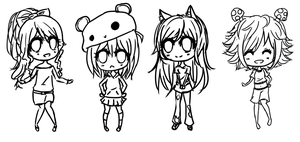 sketch request chibis by Toteruu