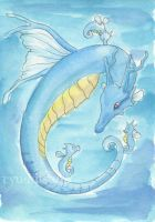 Kingdra and Horsea