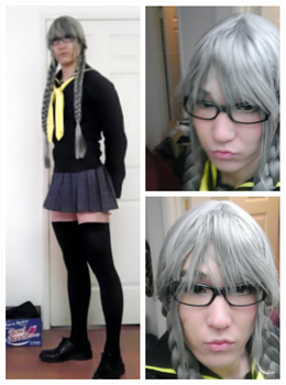 Persona 4 Yuu Narukami cross dress contest WIP by SoCoPhDPepper