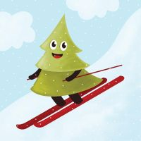 Pine Tree On Ski by azzza