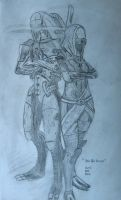Legion and Tali by BlueBoxDave