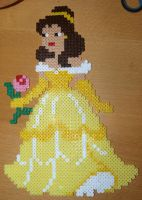 Belle from Beauty and the Beast - Perler or Hama by Chrisbeeblack