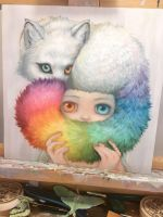 Painting WIP by camilladerrico