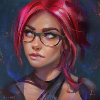 Red hair avvart by avvart